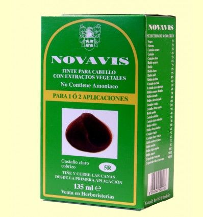 Tinte de Cabello - Castaño Claro Cobrizo 135 ml - Novavis