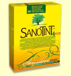 Tinte Sensitive Rubio Claro Natural 80 - Sanotint - 125 ml