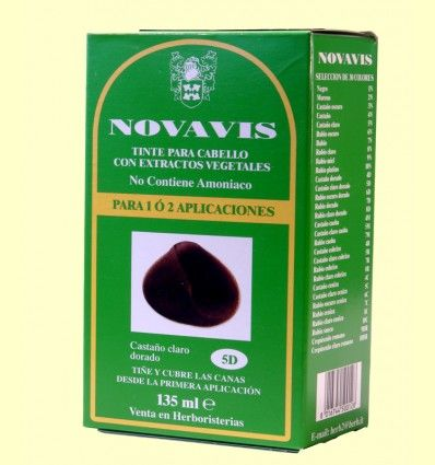 Tinte de Cabello - Castaño Claro Dorado 135 ml - Novavis