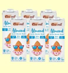 Bebida de Almendra Sin Azúcar Natural Calcium Bio - EcoMil - Pack 6 x 1 litro