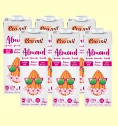 Leche de Almendras Nature Proteína Bio - EcoMil - Pack 6 x 1 litro