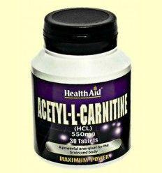 Acetil L-Carnitina 550 mg - Health Aid - 30 comprimidos