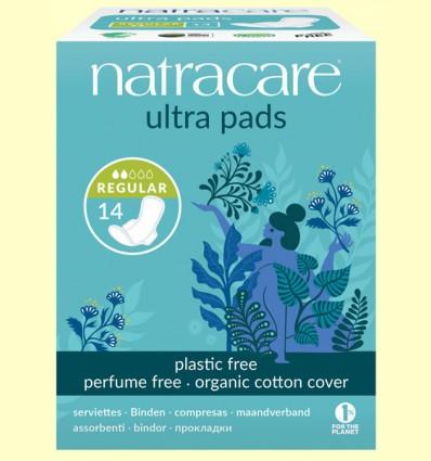 Compresas Ultra con Alas Bio - Regular - Natracare - 14 unidades