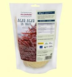 Alga Agar Agar en Tiras de Gelidium - Algamar - 50 gramos