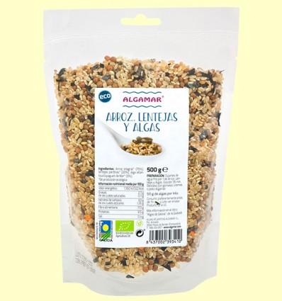 Arroz Lentejas y Algas Eco - Algamar - 500 gramos