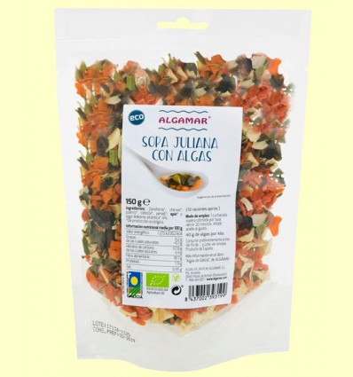 Sopa Juliana con Algas Bio - Algamar - 150 gramos