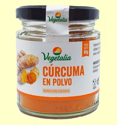 Cúrcuma en Polvo Bio - Vegetalia - 80 gramos