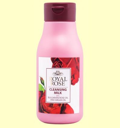 Leche Desmaquillante con Aceite de Argán y Rosa de Bulgaria - Biofresh Royal Rose - 300 ml