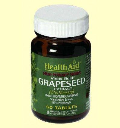 Extracto de semilla de uva 100 mg estandarizado - Health Aid - 60 comprimidos *