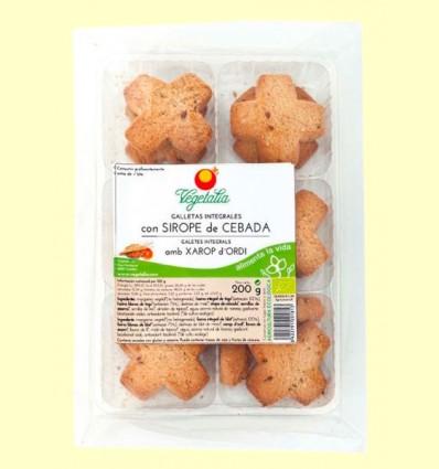 Galletas Integrales con Sirope de Cebada Bio - Vegetalia - 200 gramos