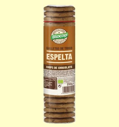 Galletas de Trigo de Espelta Chips Chocolate Bio - Biocop - 250 gramos