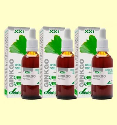 Ginkgo Biloba Fórmula XXI - Extracto Natural - Soria Natural - Pack 3 x 50 ml