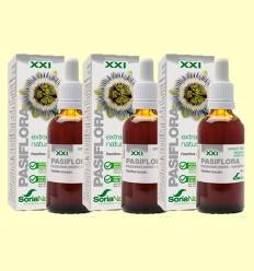 Pasiflora Fórmula XXI - Extracto Natural - Soria Natural - Pack 3 x 50 ml