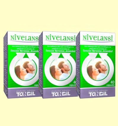Nivelansi - Estrés y Ansiedad - Tongil - Pack 3 x 40 cápsulas