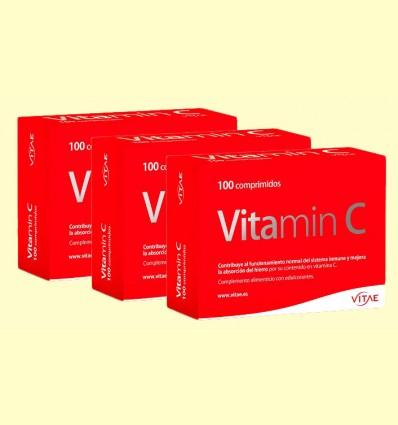 Vitamin C - Vitamina C, té verde y bioperina - Vitae - Pack 3 x 2 de 100 comprimidos
