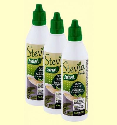 Stevia Líquida - Santiveri - pack 3 x 90 ml