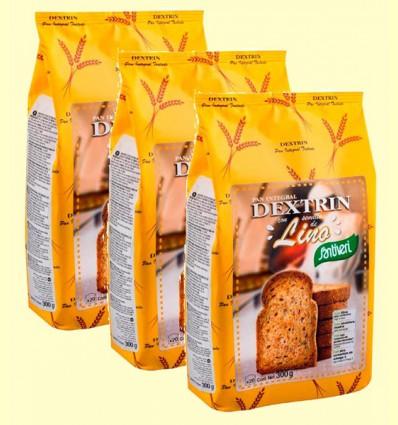 Pan Dextrin con Semillas de Lino - Santiveri - pack 3 x 300 gramos