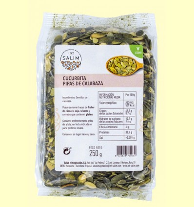 Cucurbita - Semillas de Calabaza - Int-Salim - 250 gramos