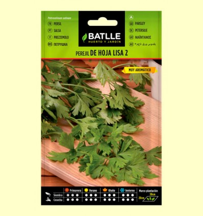 Semillas de Perejil de Hoja Lisa - Batlle - 25 gramos.