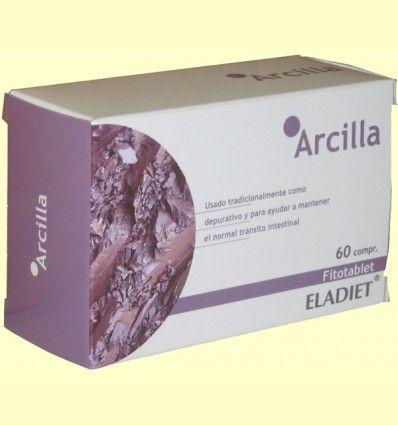 Arcilla Fitotablet - Eladiet - 60 comprimidos de 450 mg