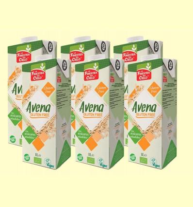 Bebida de Avena Sin Gluten Bio - La Finestra sul Cielo - pack 6 x 1 litro