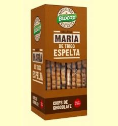 Galletas María Trigo de Espelta con Chips de Chocolate Bio - Biocop - 177 gramos