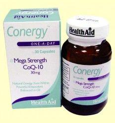 Conergy - Coenzima Q-10 - 30 mg - Health Aid - 30 cápsulas