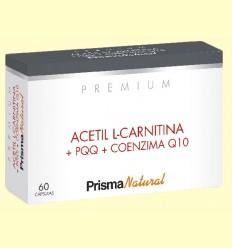 Acetil L-carnitina y PQQ Premium - Prisma Natural - 60 cápsulas