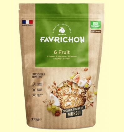 Muesli Crunchy Bio 6 Frutas - Favrichon - 375 gramos
