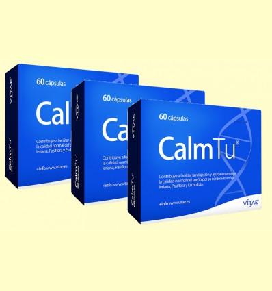 CalmTu - Sistema Nervioso - Vitae - pack 3 x 60 cápsulas