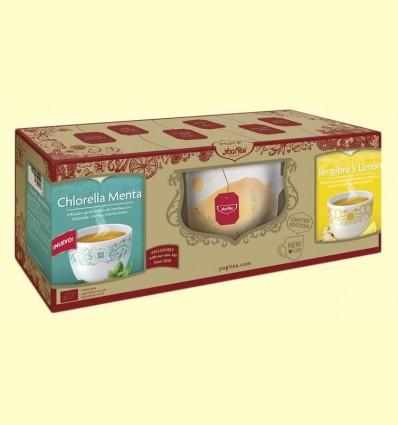 Pack Edicion Limitada Chlorella Menta + Jengibre y Limón + Taza - Yogi Tea - 1 Pack