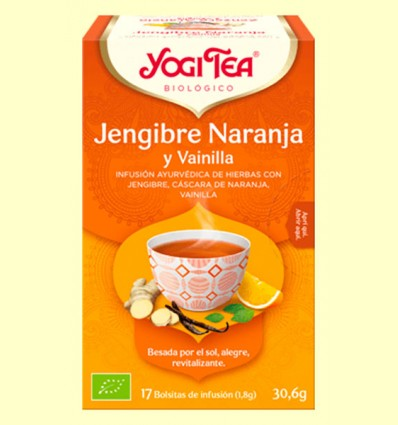 Jengibre Naranja y Vainilla Bio - Yogi Tea - 17 infusiones