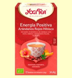 Energía Positiva Arándanos Rojos e Hibisco Bio - Yogi Tea - 17 infusiones