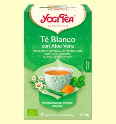 Té Blanco con Aloe Vera Bio - Yogi Tea - 17 infusiones