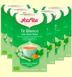 Té Blanco con Aloe Vera Bio - Yogi Tea - Pack 6 x 17 infusiones