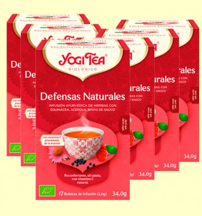 Defensas Naturales Bio - Yogi Tea - Pack 6 x 17 infusiones