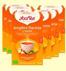 Jengibre Naranja y Vainilla Bio - Yogi Tea - Pack 6 x 17 infusiones