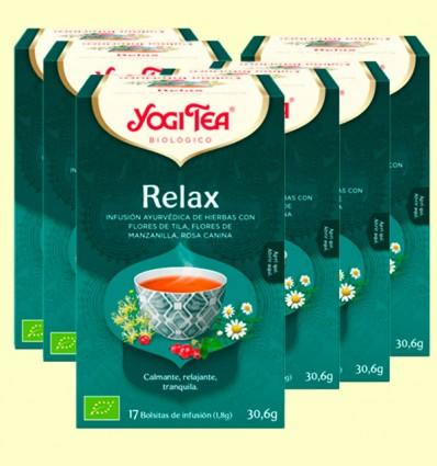 Relax Bio - Yogi Tea - Pack 6 x 17 infusiones