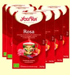 Rosa Bio - Yogi Tea - Pack 6 x 17 infusiones