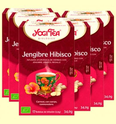 Jengibre Hibisco Bio - Yogi Tea - Pack 6 x 17 infusiones