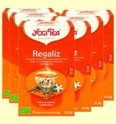 Regaliz Bio - Yogi Tea - Pack 6 x 17 infusiones