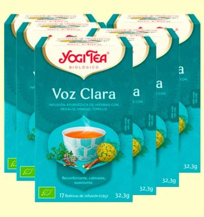 Voz Clara Bio - Yogi Tea - Pack 6 x 17 infusiones
