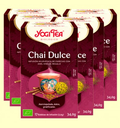 Chai Dulce Bio - Yogi Tea - Pack 6 x 17 infusiones