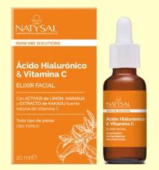 Elixir Facial con Ácido Hialurónico y Vitamina C - Natysal - 15 ml