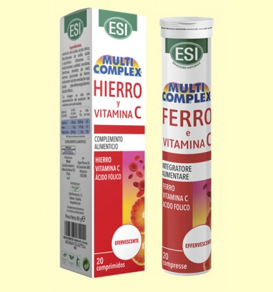 Hierro y Vitamina C Efervescente - Laboratorios Esi - 20 comprimidos