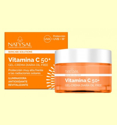 Crema Diaria Vitamina C 50+ - Natysal - 50 ml