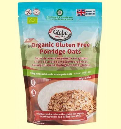 Copos de Avena Sin Gluten Bio - Glebe Farm - 450 gramos