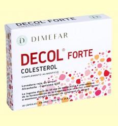 Decol Forte Levadura Roja Arroz - Laboratorios Dimefar - 30 cápsulas
