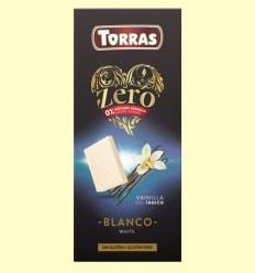 Chocolate Blanco con Vainilla del Índico Zero - Torras - 100 gramos