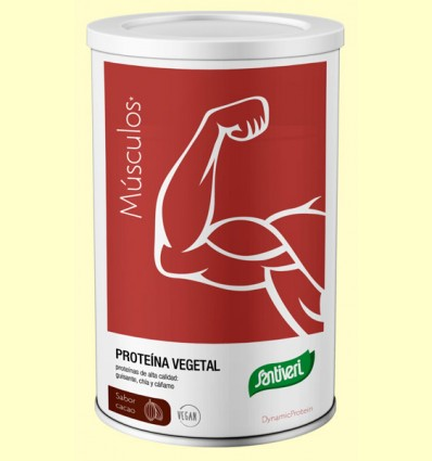 Proteína Vegetal Dynamic Protein sabor Cacao - Santiveri - 455 gramos